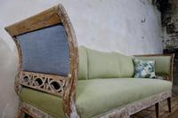 Elegant 18th Century Gustavian Dry Scraped Sofa Lindome c.1790 (11 of 14)