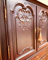 French Antique Style Cabinet / Black Cupboard / Louis XV Style (8 of 10)