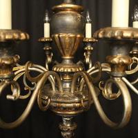 Italian Florentine Silver Giltwood 6 Light Chandelier (5 of 10)