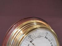 Antique Brass Bulkhead Marine Barometer (3 of 6)