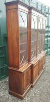 Quality Mahogany Breakfront Library Bookcase made by G T Rackstraw (3 of 6)