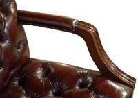 Leather Upholstered Mahogany Desk Chair (6 of 9)