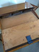 Victorian Mahogany Green Leather Lady's Workstation, Sewing & Writing Desk (5 of 10)