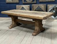 Superb Very Rustic French Oak Bleached Oak Farmhouse Dining Table (21 of 32)
