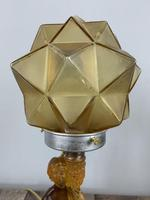 Art Deco Walther And Sohne Glass Table Lamp, Circa 1930's, Rewired And Pat Tested (5 of 10)
