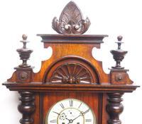 Wow! Antique German Double Weight Walnut 8-Day Vienna Regulator Wall Clock by Gustav Becker (8 of 11)