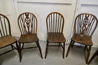 Collection of 8 Beech & Elm Country Windsor Chairs (5 of 12)