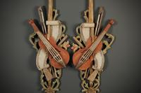 Pair of Decorative Carved Wood Wall Hangings (4 of 7)