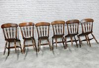 Set of 6 Antique Spindleback Kitchen / Dining Chairs (7 of 8)