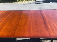 Quality Mahogany Twill Pillar Extending Dining Table (6 of 15)