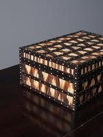 Anglo-Indian Ebony & Porcupine Quill Jewellery Box (3 of 12)