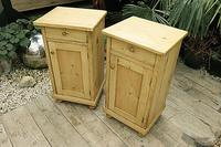 Fab! Two Matching 'will split' Old Pine Bedside Cabinets - We Deliver! (2 of 8)