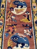 Antique Chinese Ningxia Rug 1.61m x 0.74m (4 of 9)