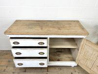 Distressed Antique Pine Cupboard with Painted Base (7 of 10)