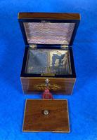 18th Century Mahogany  Shell Inlaid Tea Caddy (6 of 18)