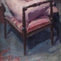 Oswald Poreau, Seated Nude In Leather Boots, Oil Painting (6 of 8)