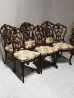 Set of  Victorian Walnut Dining Chairs (2 of 8)