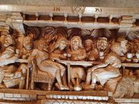 'Last Supper' High Relief Carving in Lime Wood, by Scottish Sculptor Alan Lees (4 of 9)