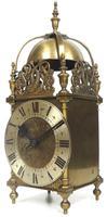 Superb Vintage English 8 Day Lantern Clock - Lever Platform c.1950 Mantel Clock by Rotherham's (11 of 11)