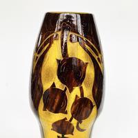 Le verre français acid etched glass vase (5 of 6)