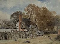 'lane Near Witley', Surrey,  Birket Foster R.W.S.