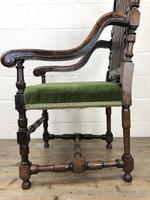 Victorian Carved Oak Armchair (9 of 10)