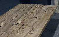 Large Rustic Bleached Oak Farmhouse Refectory Dining Table (8 of 25)