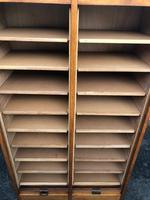 Antique Oak Double Filing Cabinet (10 of 10)