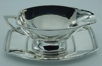 Sterling Silver Art Deco Gravy  Sauce Boat & Tray (9 of 10)