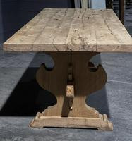 Large Rustic Bleached Oak Farmhouse Refectory Dining Table (4 of 25)