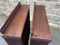 Pair of Antique Oak Open Bookcases (9 of 10)