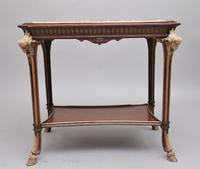 19th Century French Mahogany & Marble Top Occasional Table (4 of 12)