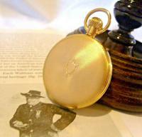 Vintage Swiss Waltham Pocket Watch 1970s 17 Jewel 12ct Gold Plated Half Hunter FWO (7 of 12)