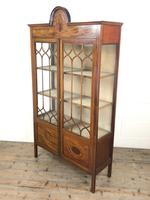Edwardian Inlaid Mahogany Glass Display Cabinet (M-1535) (8 of 9)