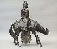 19th Century Chinese Bronze Figure Zhang Guolao on an Ass (5 of 11)