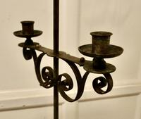 Tall Arts and Crafts Wrought Iron Candle Stick or Torchère (5 of 6)