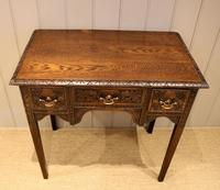 Early 19th Century Carved Oak Lowboy (4 of 11)