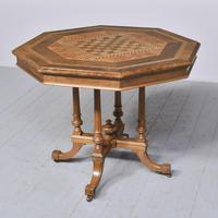 Victorian Walnut & Inlaid Games Table (8 of 10)