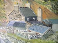 E Owen Contemporary Oil on Board of Welsh Mountainous Landscape (4 of 6)