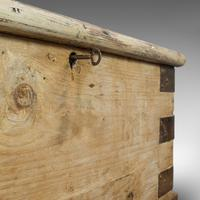 Antique Mail Chest, English, Pine, Carriage, Merchant, Victorian c.1880 (11 of 12)