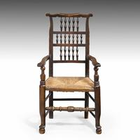 Attractive Mid 19th Century Elm Spindleback Armchair (4 of 5)