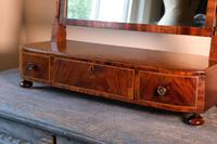 19th Century Mahogany Dressing Table Mirror with Three Drawers (14 of 21)