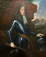 Huge Oil Portrait Painting 'King William III' After Sir Peter Lely (7 of 13)