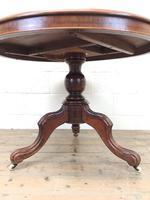 Victorian Mahogany Circular Snap Top Table (3 of 10)