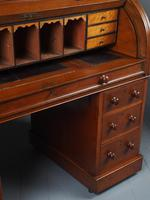 Victorian Oak Cylinder Top Desk or Bureau (9 of 16)