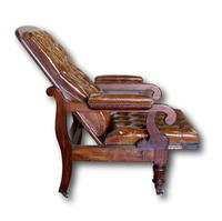 Victorian Mahogany Reclining Library Chair (3 of 7)