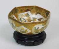 Antique Meiji Satsuma Bowl on Stand Signed (8 of 10)