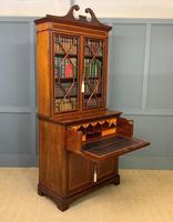 Edwardian Inlaid Mahogany Secretaire Bookcase (19 of 21)