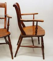 Pair of Victorian Rope Back Oxford Chairs in Elm & Beech (13 of 15)