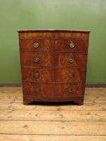 Antique Bow Front Mahogany Chest of Drawers, Country House Chest (13 of 16)
